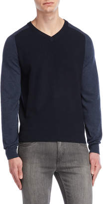 Perry Ellis V-Neck Color Block Sweater