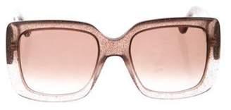 Gucci Oversize Square Gradient Sunglasses Grey Oversize Square Gradient Sunglasses