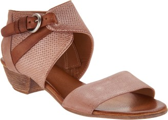 Miz Mooz Leather Buckle Sandals - Cheerful