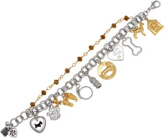 John Wind Double Chain Antiqued Charm Bracelet