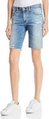 AG Jeans Nikki Denim Shorts in 16 Years Indigo Deluge Destructed