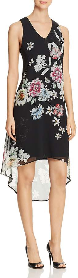 Floral Print High/Low Dress