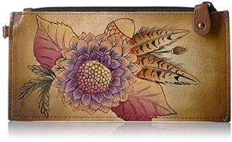 Anuschka ANNA BY ANCHKA, HANDPAINTED LEATHER ORGANIZER WALLET, RTIC BOUQUET Credit Card Holder, RBQ-RTIC BOUQUET, One Size