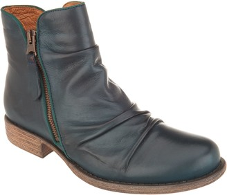 Miz Mooz Leather Ruched Ankle Boots - Layla