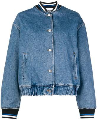 MSGM denim bomber jacket