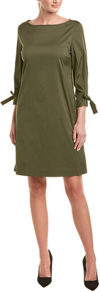 Lafayette 148 New York Tie-Sleeve Shift Dress