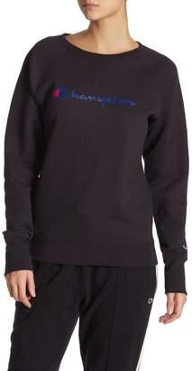 Champion Powerblend Fleece Logo Crew Neck Sweatshirt
