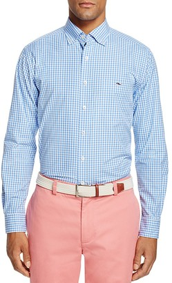 Vineyard Vines Seabrook Gingham Tucker Slim Fit Button-Down Shirt $98.50 thestylecure.com
