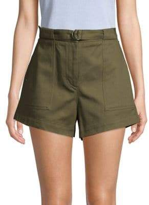 a468d77fc36 High Waisted Olive Shorts - ShopStyle