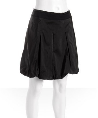 Elie Tahari black pleated taffeta 'Natasha' bubble skirt
