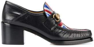 Gucci Union Jack Horsebit Loafer Heels