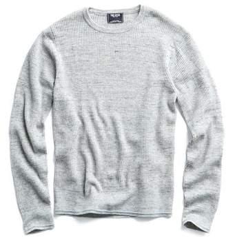 Todd Snyder Merino Waffle Crewneck Sweater in Grey Marl