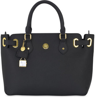 Joy Mangano Christie Leather Satchel $320 thestylecure.com