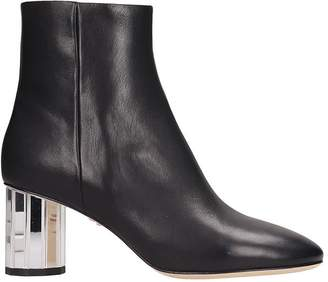 Lola Cruz Black Leather Ankle Boots