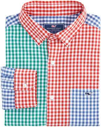 Vineyard Vines Party Carleton Gingham Classic Tucker Shirt