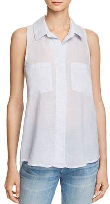 Bella Dahl Split Back Stripe Blouse