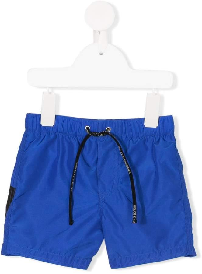 drawstring waist track shorts