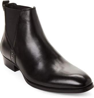 Steve Madden Black Simon Leather Chelsea Boots