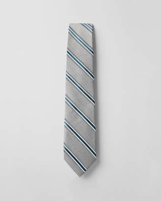 Express Multi Stripe Narrow Silk Blend Tie