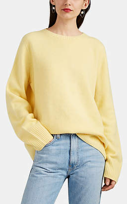 The Row Women's Sibel Wool-Cashmere Crewneck Sweater - Yellow