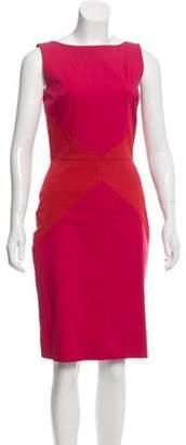 Christian Dior Colorblock Sheath Dress Pink Colorblock Sheath Dress