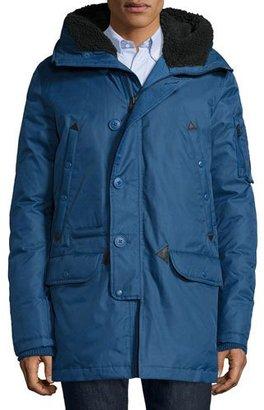 Spiewak Tech N3-B Snorkel Hooded Coat, Blue $655 thestylecure.com