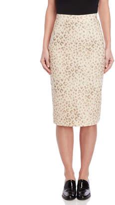 Hache Leopard Print Pencil Skirt