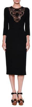 Dolce & Gabbana Macrame-Bib Cocktail Dress, Black $2,995 thestylecure.com