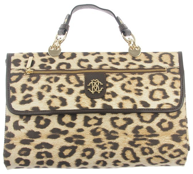 Roberto Cavalli Leopard Print Fold Up Travel Changing Mat
