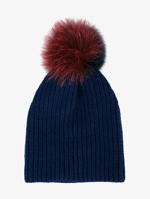 Womens Knit Pom Fur Beanie, Pink, One Size (Manufacturer Size: 1) Dorothy Perkins