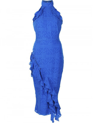 Saloni ruffled fitted dress $625 thestylecure.com
