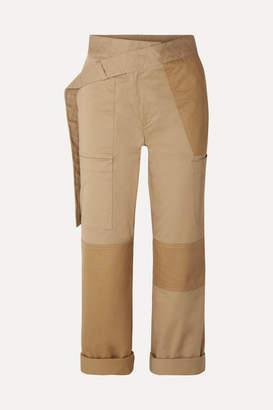 Monse Cotton-blend Drill Straight-leg Pants - Beige