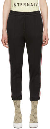 Gucci Black Striped Lounge Pants