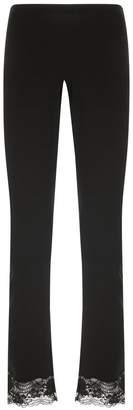 La Perla Lapis Lace Black Modal Pajama Pants With Leavers Lace Trim