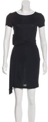 Fendi Short Sleeve Mini Dress Black Short Sleeve Mini Dress