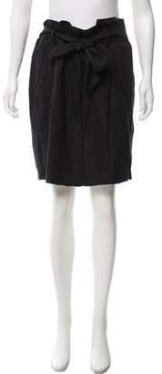 Frame Belted Knee-Length Skirt w/ Tags