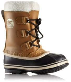 Sorel Toddler's& Girl's Yoot Pac Faux Fur-Cuff Leather Snow Boots