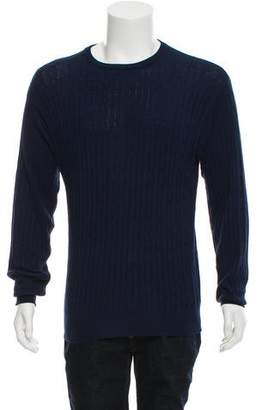 Barneys New York Barney's New York Cable Knit Crew Neck Sweater