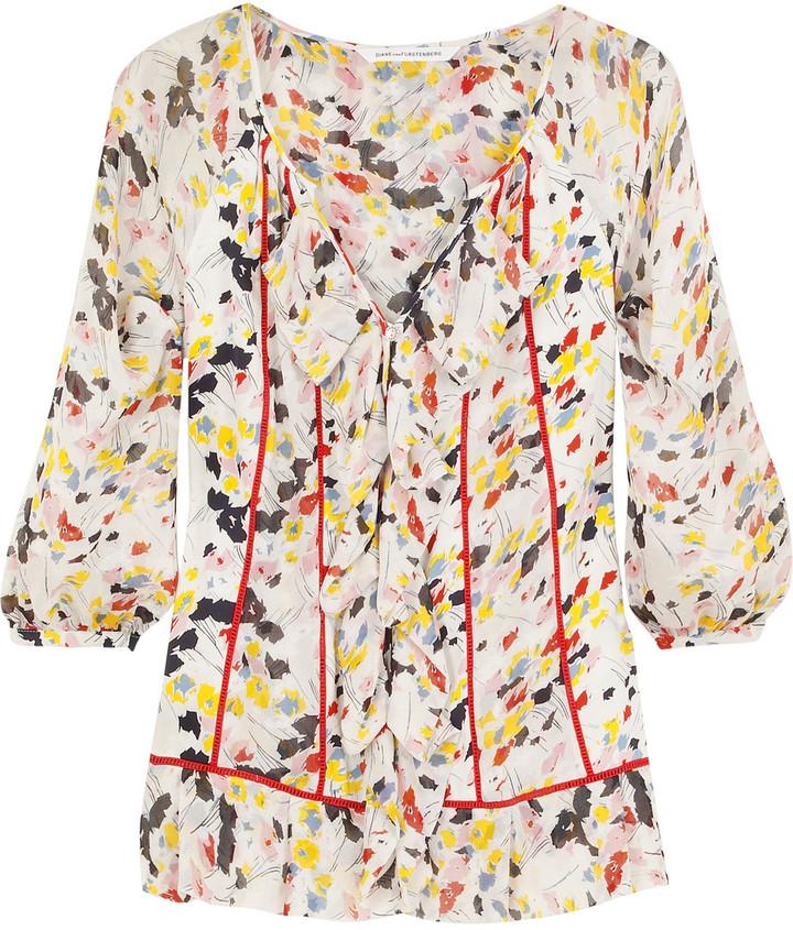 Diane von Furstenberg Mala floral blouse