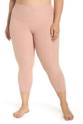 Beyond Yoga Walk & Talk Space Dye High Waist Leggings (Plus Size)