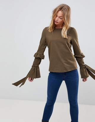 Vero Moda Tie Sleeve Sweat