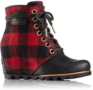 Sorel Women's PDX Plaid and Leather Wedge Booties