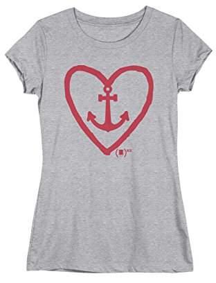 Nickelodeon Junior's (Spongebob) Red Women's Anchor Heart Tee