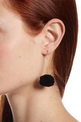 Shashi Pompom Threader Earrings