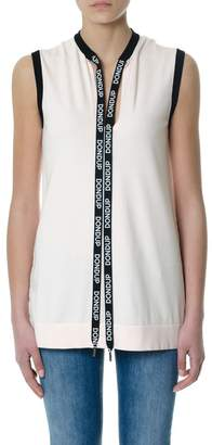 Dondup Pink Sleeveless Branded Laces Top