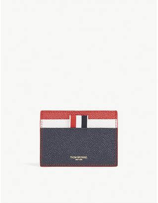 Thom Browne Grained leather cardholder