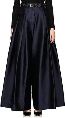 The Row Women's Garcia Silk Wide-Leg Trousers - Navy