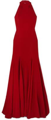 Stella McCartney Stretch-crepe Halterneck Gown - Red