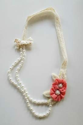 ML Kids Double-Rosette-Beaded-Pearl-Necklace