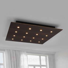 LED-Holz-Deckenlampe Juri im Stil Eiche kolonial